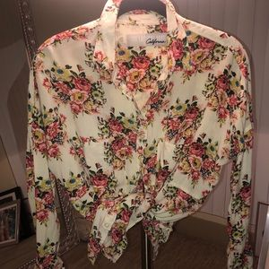 The Laundry Room LA floral button down